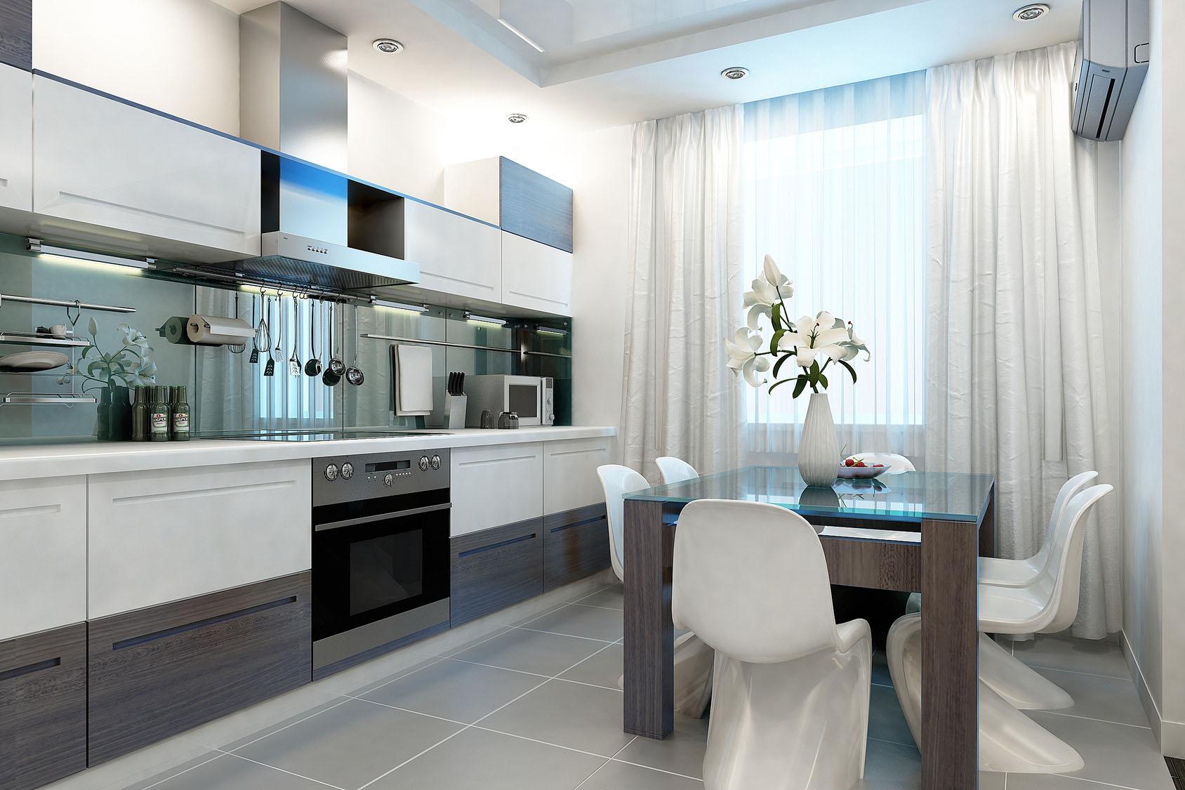 Занавески дизайн на кухню